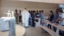 La messe lors de notre retraite.